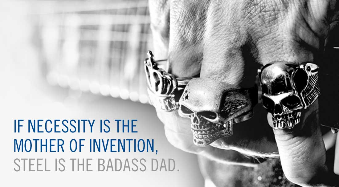 If necessity is the mother of invention, steel is the badass dad. | Big River Steel | design by TEAM ODEA